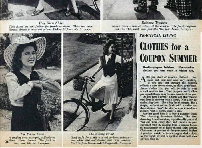 From coupons to cocktail dresses: tracking changes to women's wartime fashion using the Picture Post