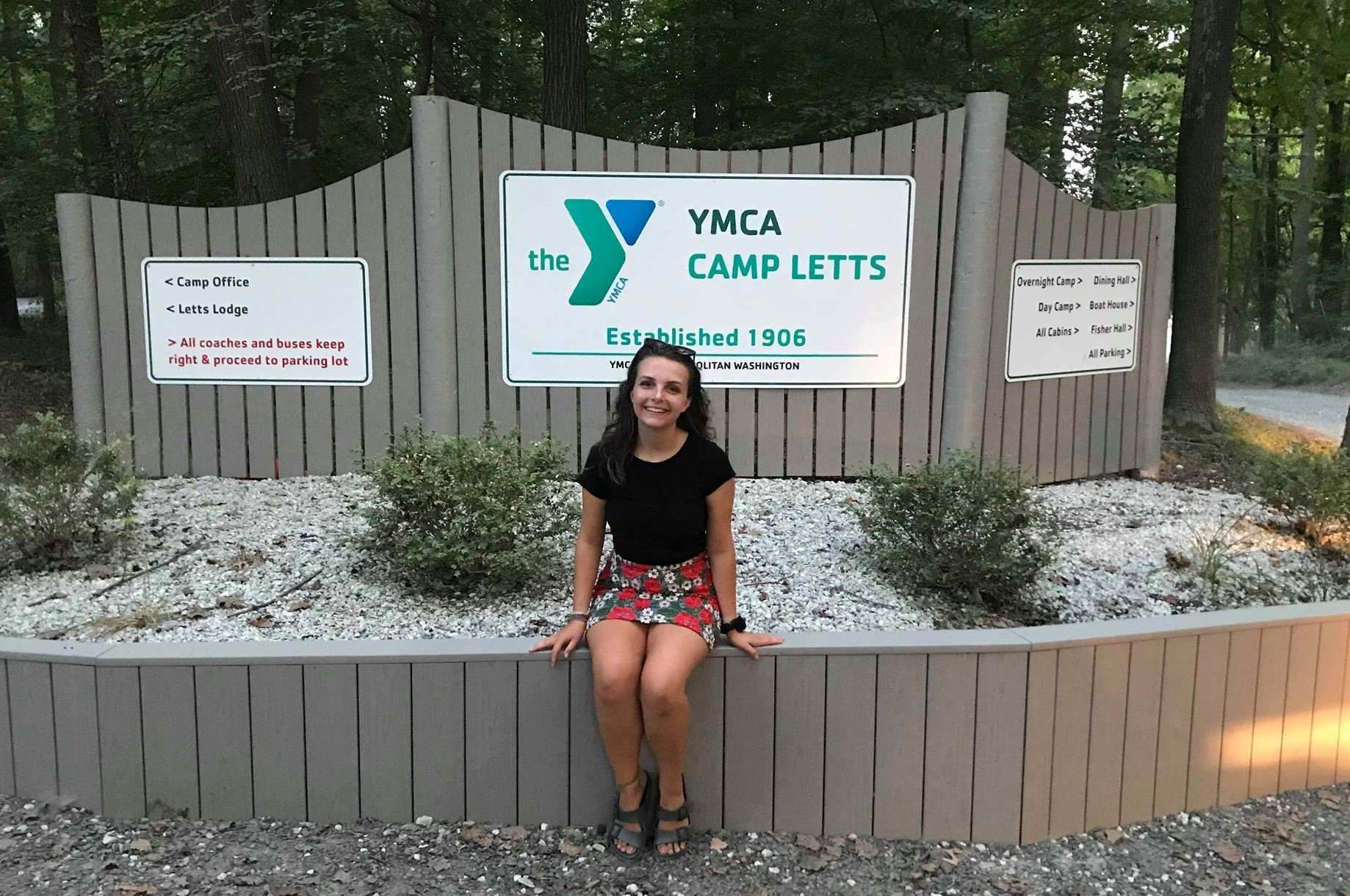 Megan at the summer camp