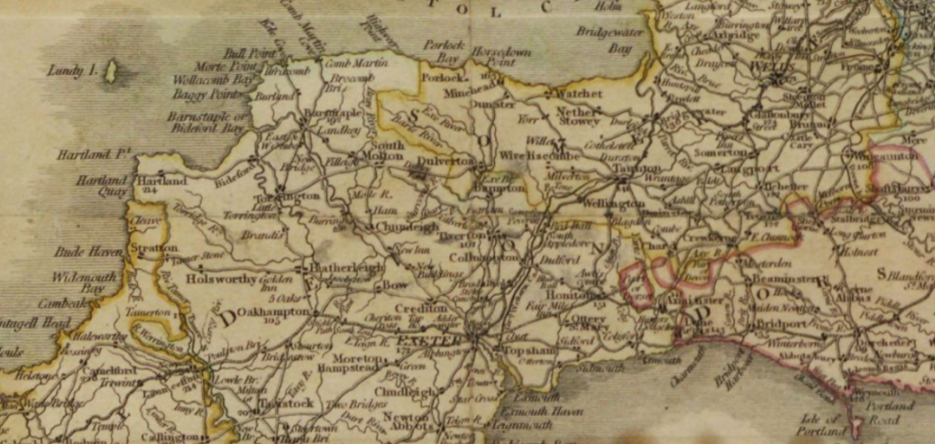 """A New Map of England and Wales, Comprehending the Whole of the Turnpike Roads, Etc. 1175. (106.)."" British Library: 19th Century European Sheet Maps, Primary Source Media, 1804. Nineteenth Century Collections Online,"