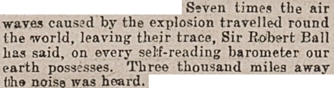 """A close up of text on a white background   """"Nature's Thunders."""" Western Times, 26 May 1902, p. 6. British Library Newspapers."""