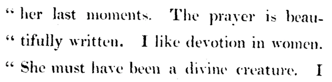 Text from: Conversations of Lord Byron: noted during a residence with his lordship at Pisa, in the years 1821 and 1822 Click link to access transcript.