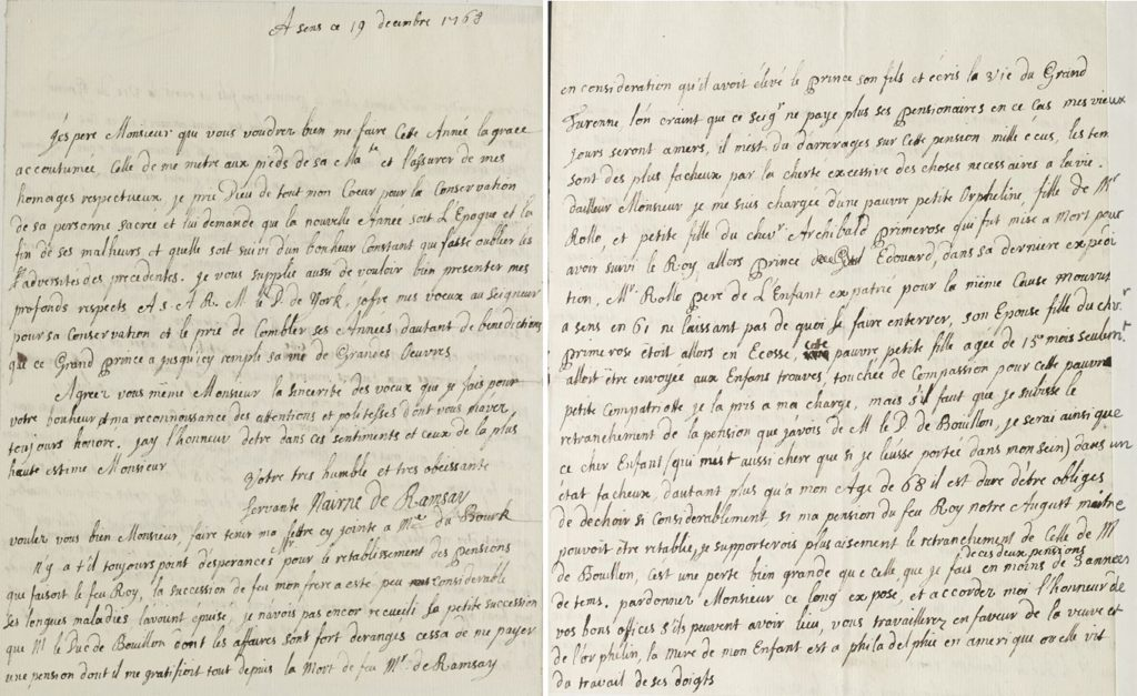 Letter from Marie Ramsay to Andrew Lumisden, 19 December 1768, pages 1-2