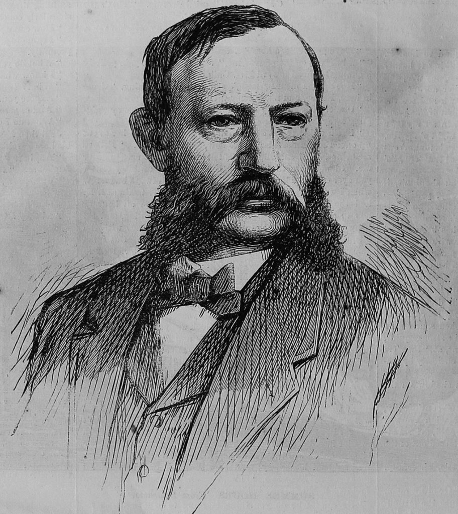 "Sketch of Anson Burlingame. Anson Burlingame ""Hon Anson Burlingame."" The Illustrated Chicago News, vol. 7, no. 1, 6 June 1868, p. 108. American Historical Periodicals from the American Antiquarian Society,"